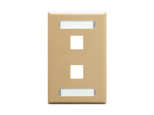 Picture of Blank Faceplate Id 1-gang 2-port Ivory