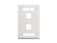 Picture of Blank Faceplate Id 1-gang 2-port White