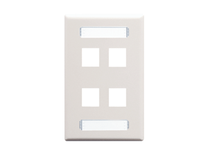 Picture of Blank Faceplate Id 1-gang 4-port White
