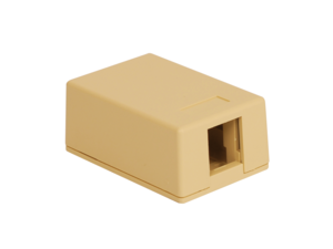 Picture of Surface Mount Box 1-port Ivory