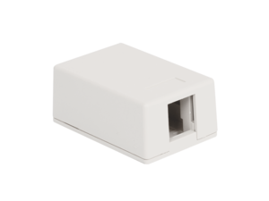 Picture of Surface Mount Box 1-port White