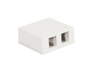 Picture of Surface Mount Box 2-port White