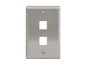 Picture of Blank Faceplate Stainless Steel 1-gang 2-port