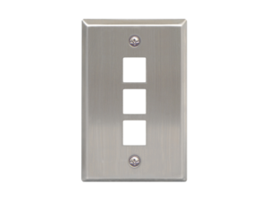 Picture of Blank Faceplate Stainless Steel 1-gang 3-port