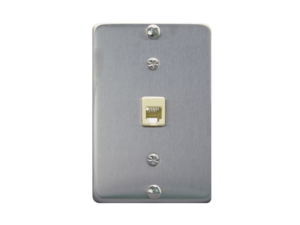 Picture of Wall Plate Telephone 6p6c Stainless Steel