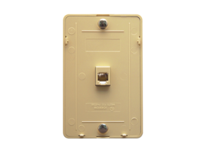 Picture of Wall Plate Telephone 6p6c Ivory