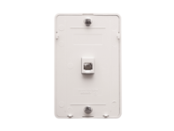 Picture of Wall Plate Telephone 6p6c White
