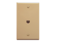 Picture of Wall Plate 1-gang 6p6c Ivory