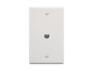 Picture of Wall Plate 1-gang 1-port 6p6c White