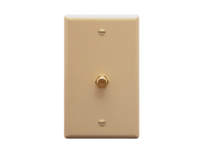 Picture of Wall Plate F-type Ivory