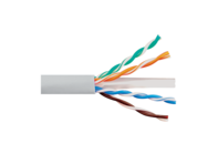 Picture of Solid CAT6e UTP 350 MHz Plenum Cable - White - 1000 FT