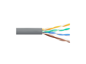 Picture of Solid CAT5e UTP 350 MHz Riser Cable - Gray - 1000 FT