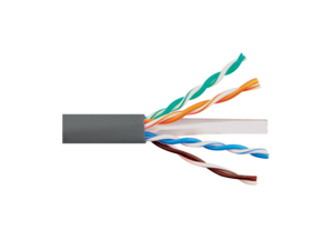 Picture of Solid CAT6e UTP 600 MHz Riser Cable - Gray - 1000 FT
