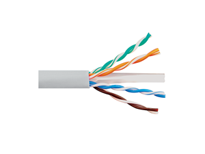 Picture of Solid CAT6e UTP 600 MHz Riser Cable - White - 1000 FT
