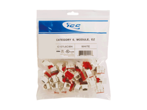 Picture of Module Cat 6 Ez 25 Pk White