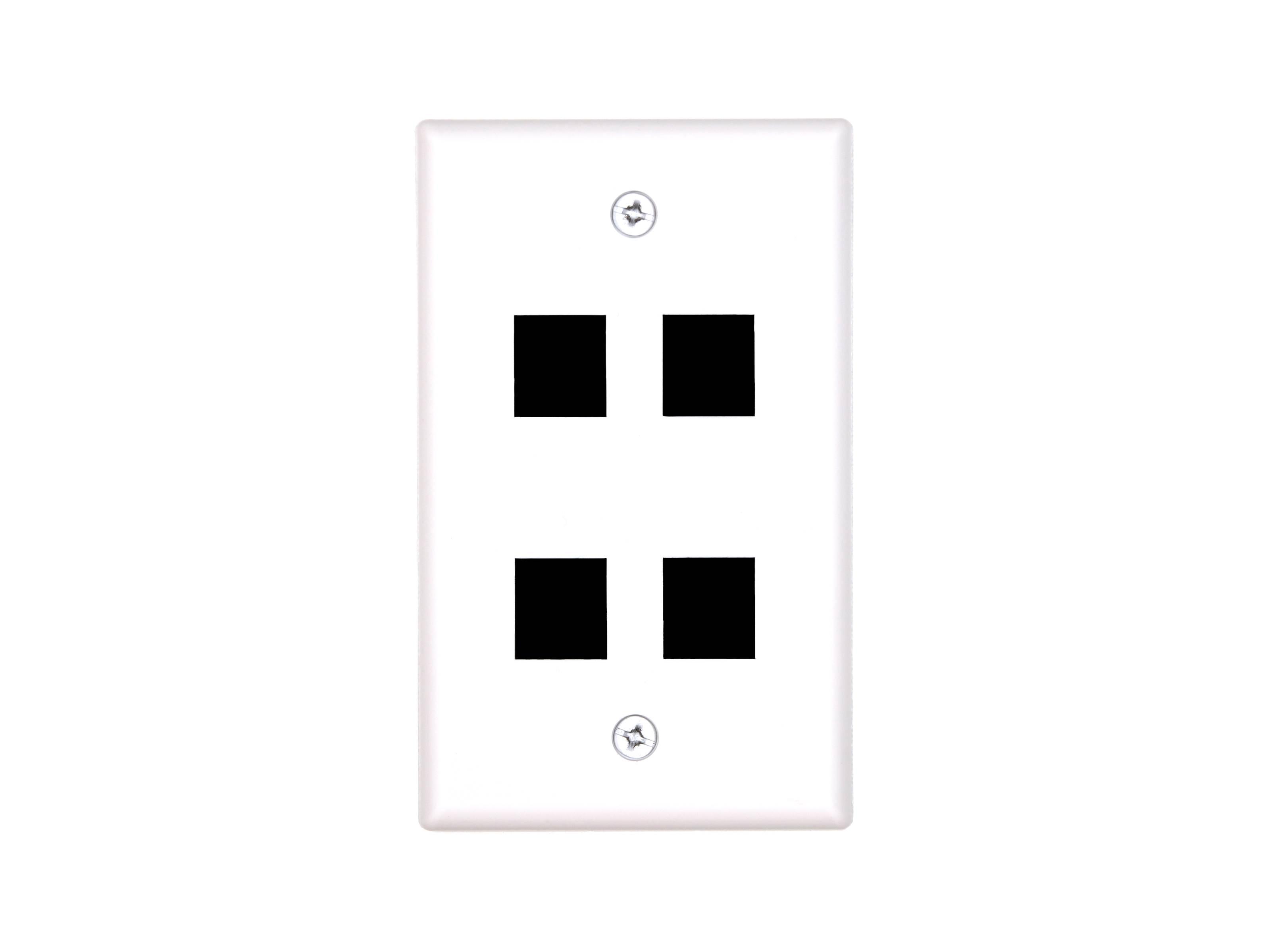 4 port keystone faceplate - single gang