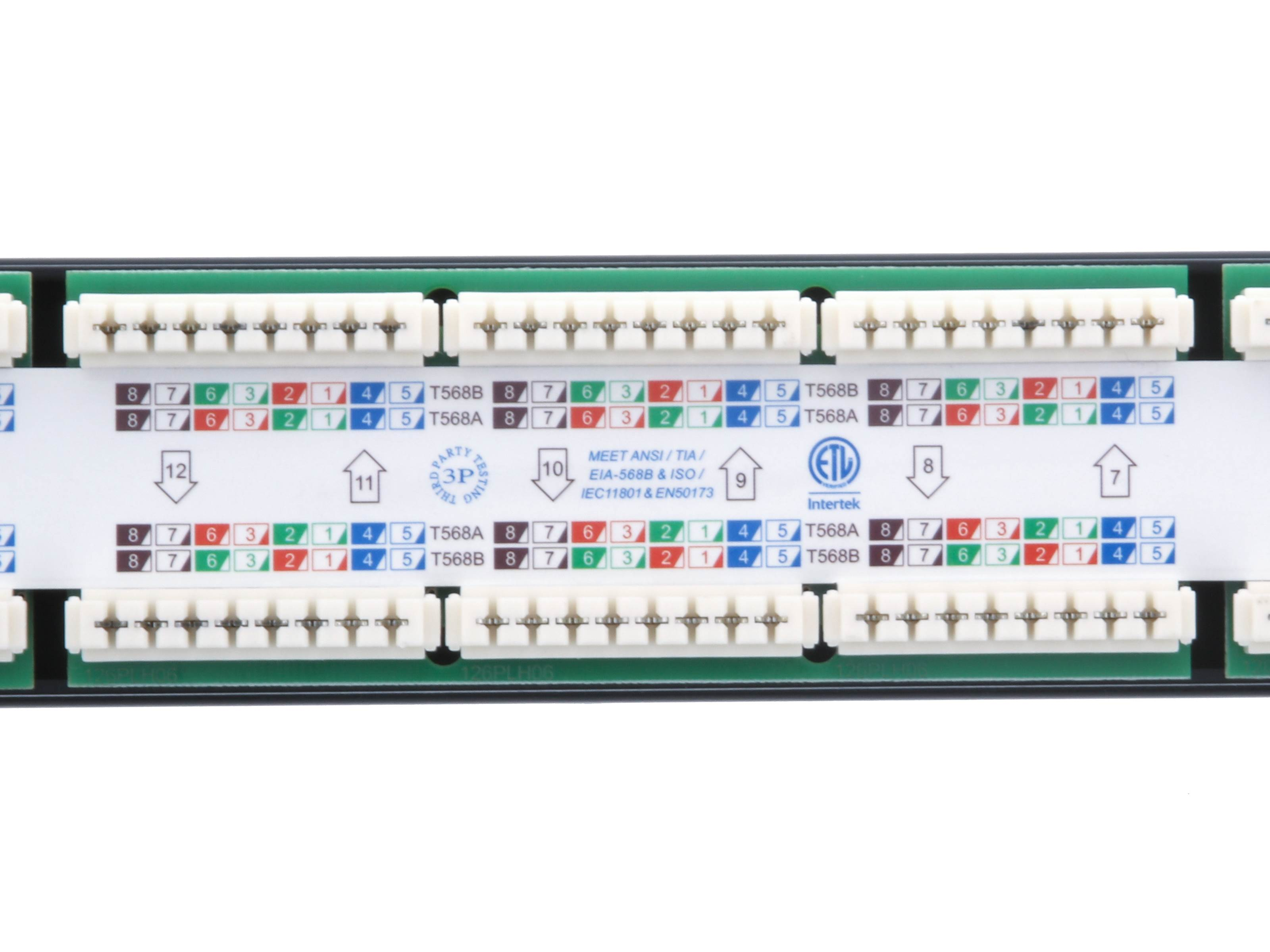 24 Port Cat6 Rack Mount Patch Panel 1u Taa Compliant Rohs Ethernet Wiring Picture Of