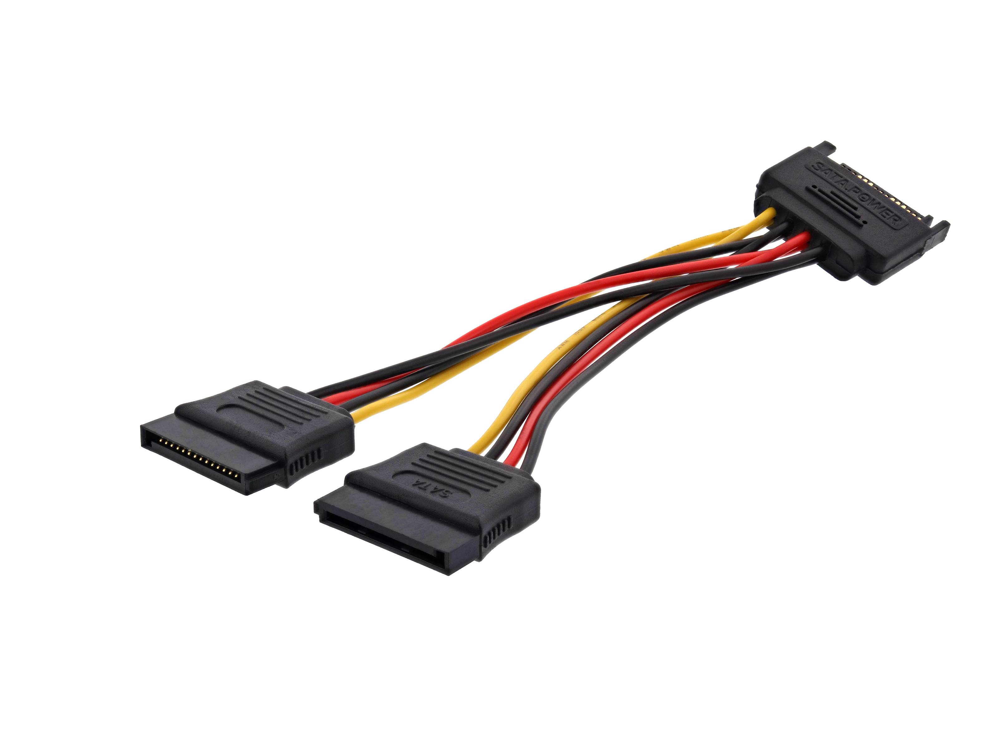 6 Inch Serial Ata Power Y Cable Computer Cable Store