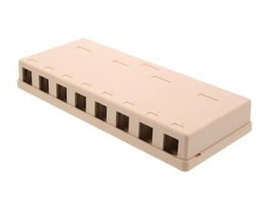 Picture of 8 Port Surface Mount Box - Ivory