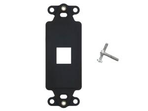 Picture of 1 Port Decorex Face Plate Insert - Black
