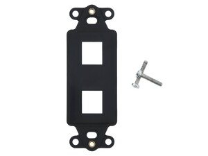 Picture of 2 Port Decorex Face Plate Insert - Black