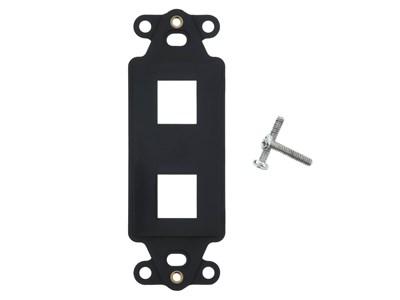 Picture of 2 Port Decorex Face Plate Insert - Black