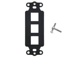 Picture of 3 Port Decorex Face Plate Insert - Black