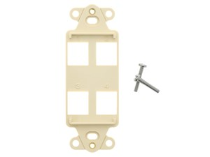 Picture of 4 Port Decorex Face Plate Insert - Ivory