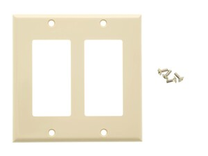 Picture of Dual Gang Decorex Wall Plate - Ivory