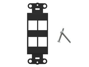 Picture of 4 Port Decorex Face Plate Insert - Black