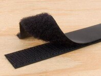 Picture of 1 Inch Black Self-Adhesive Hook and Loop Tape - 25 Yards
