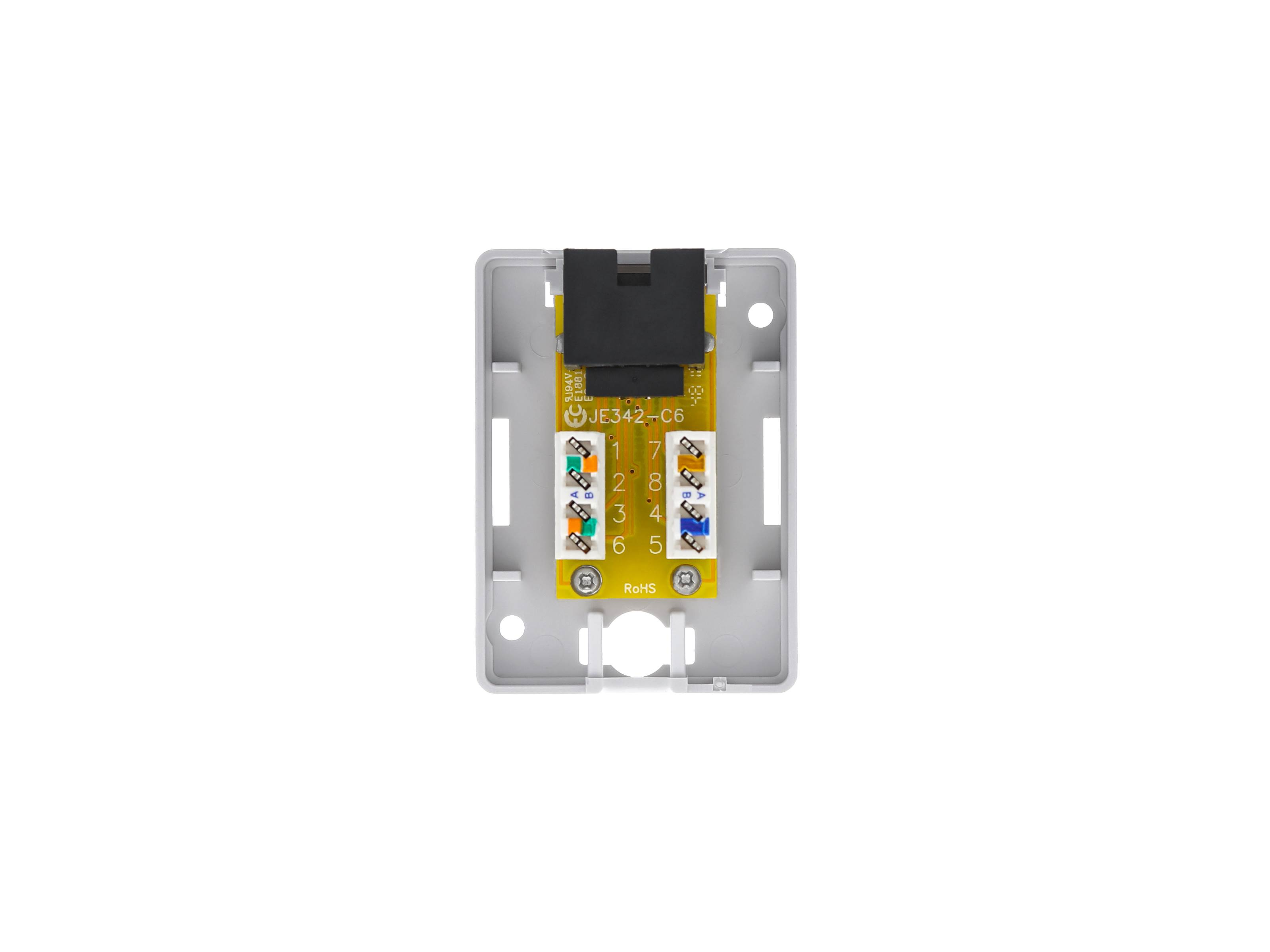 Surface Mount Box With Cat6 110 Punch Down Terminals
