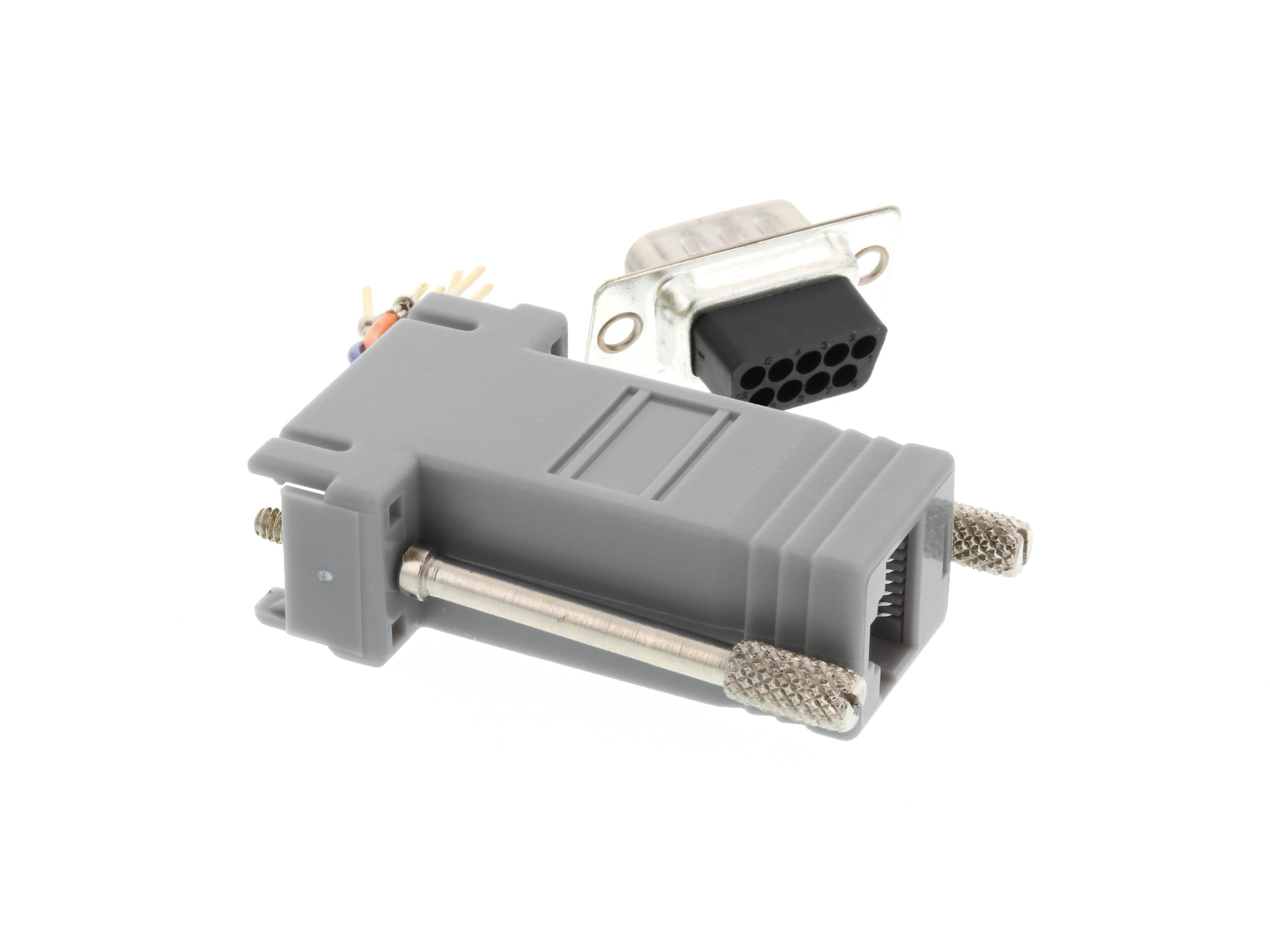Modular Adapter Kit Db9 Male To Rj45 Gray Computer