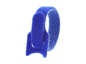 Picture of 6 Inch Blue Hook and Loop Tie Wrap - 50 Pack