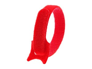 Picture of 8 Inch Red Hook and Loop Tie Wrap - 50 Pack