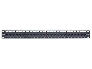 Picture of 24 Port CAT6 Rack Mount Patch Panel - 1U, TAA Compliant, RoHS Compliant