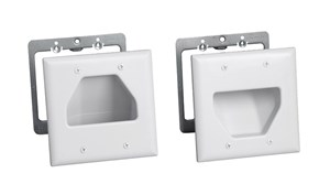 Picture of Recessed Wall Plate Installation Kit - Double Gang - White