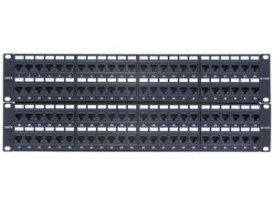 Picture of 96 Port CAT6 Rack Mount Patch Panel - 4U, TAA Compliant, RoHS Compliant