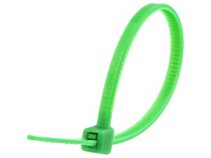 Picture of 4 Inch Green Miniature Cable Tie - 100 Pack