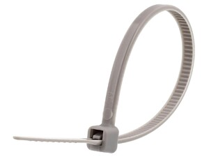 Picture of 4 Inch Gray Miniature Cable Tie - 100 Pack