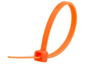 Picture of 4 Inch Orange Miniature Cable Tie - 100 Pack
