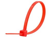 Picture of 4 Inch Red Miniature Cable Tie - 100 Pack