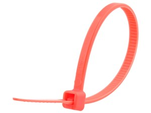 Picture of 4 Inch Salmon Miniature Cable Tie - 100 Pack