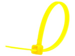 Picture of 4 Inch Yellow Miniature Cable Tie - 100 Pack