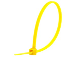 Picture of 6 Inch Yellow Miniature Cable Tie - 100 Pack
