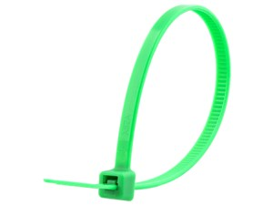 Picture of 6 Inch Green Intermediate Nylon Cable Tie - 100 Pack