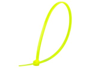 Picture of 8 Inch Fluorescent Yellow Miniature Cable Tie - 100 Pack