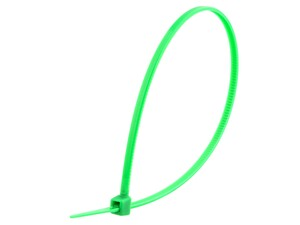 Picture of 8 Inch Green Miniature Nylon Cable Tie - 100 Pack