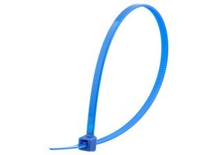Picture of 8 Inch Blue Intermediate Cable Tie - 100 Pack