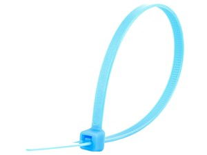 Picture of 8 Inch Fluorescent Blue Standard Cable Tie - 100 Pack
